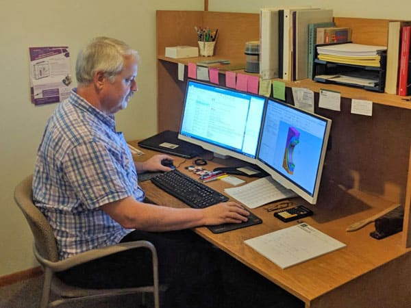 Mechanical Design - Karl at his desk